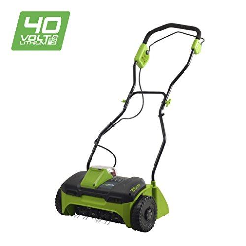 Greenworks G40DT30 40V Vertikutierer (ohne Akku und Ladegerät) -2504807, 40 V, Green