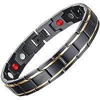 Healifty Titan Stahl Handgelenk Gliederkette Männer Magnet Armband preisvergleich bei billige-tabletten.eu