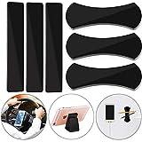 WENTS Smartphone Ständer 6 Stück Multifunktionale Gel-Pads Anti-rutsch-pad Wiederverwendbare Waschbare Ständer für alle Smartphones & Tablets (Schwarz)