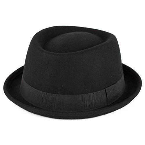 Hat To Socks Chapeau Pork-Pie Laine avec Ruban Gros Grain Fait la Main en Italie
