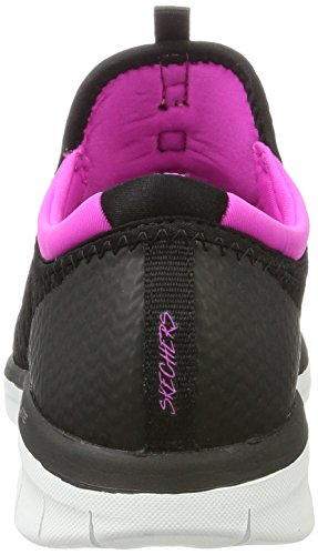 Skechers Synergy 2.0-Mirror Image, Sneaker Infilare Donna Nero (Black/pink)