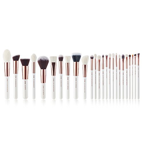 Jessup 25 Stücke Professionelle Makeup Pinsel Set Kosmetik Grundlagen Pinsel Wimper Lippenstift Natürlich Synthetische Haare Pinsel T215 (Kosmetik Pinsel Natürliche)