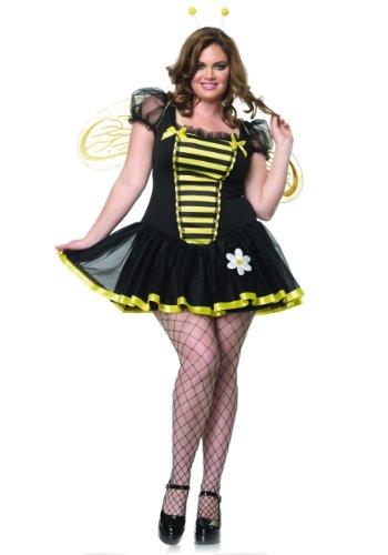 Stirnband Antenne Kostüme (Leg Avenue 83645X - Daisy Bee Kostüm Set, Größe 46,)