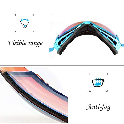 Ski Snowboard Goggles, Anti - Fogging Skating Goggles, Anti - Fogging, UV 400 Protection for Skiing, Snowmobiles, Thanksgiving Gift Img 1 Zoom