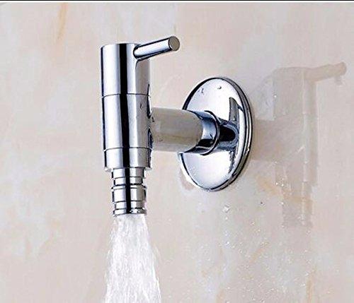 Hlluya Wasserhahn für Waschbecken Küche Das Kupfer Bad Faucet Extension in die Wand, Einloch Erkältung Wasserhähne, Waschmaschine Wasseranschluß, WC Express öffnen Wasserhahn