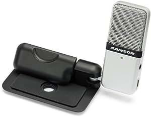 Samson Go Mic Microphone à condensateur USB bidirectionnel portatif interface audio avec Câble USB + Etui Noir