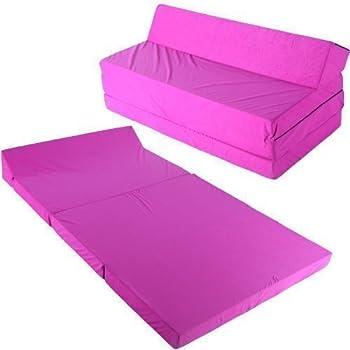 Schlafsessel 200x120cm Klappmatratze Gästebett Bettsessel Schlafsofa  Faltmatratze (rosa)