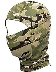 Qianliuk Multicam CP Camuflaje Pasamontañas Máscara de Cabeza Completa táctica Paintball Sombrero Casco Liner de Caza máscara de Ciclismo para Hombres