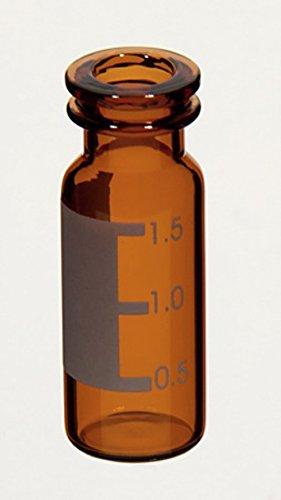 Kinesis VX1102-AL KX Snap Top vial, 11 mm 2 mL, 12 mm x 32 mm, Amber with label (Pack of 1000) (Borosilikatglas Amber)