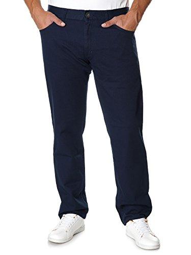 Stanley Herren Chino Hose in Blau Straight Fit Strech 400c-145 22667 W40-116 cm L32