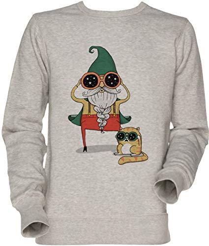 Vendax Magier Und Katze Unisex Sweatshirt Grau