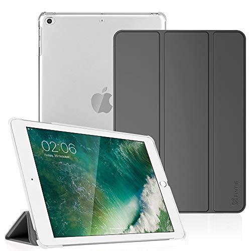 Fintie Hülle für iPad 9.7 Zoll 2018/2017 - Ultradünn Superleicht Schutzhülle mit transparenter Rückseite Abdeckung Cover Case mit Auto Schlaf/Wach Funktion, Himmelgrau