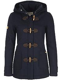 Desires Penna Duffle-Coat Abrigo Chaqueta De Lana para Mujer Forrado con Cuello Alto