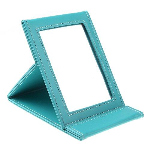 TOOGOO(R)Miroir de maquillage cosmetique portable pliable multifonctionnel pour voyage bleu