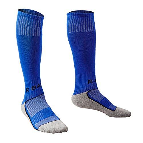 5ef28e47d649c Yohope Unisexe Haut rayé Sports Football/Soccer/Hockey Tube Coton Chaussettes  pour Les Enfants
