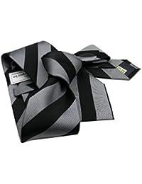 CRAVATTA elegante UOMO A RIGHE SETA SILK grigio necktie striped cerimonia  ITALY 051aa6038a6a