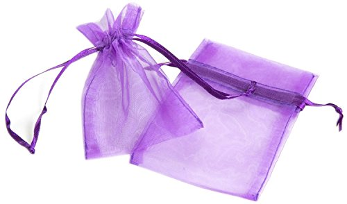 Click Down 48pcs Purple Organza Drawstring Pouches Jewelry Party Wedding Favor Gift Bags 10*13cm