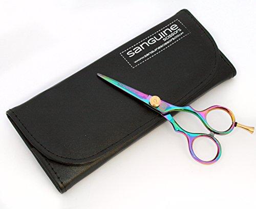 Professionelle Haarscheren, kleine Friseurschere, Titan 11,5cm, mit Etui -