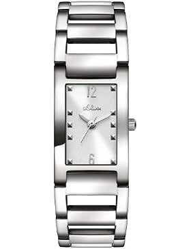 s.Oliver Damen-Armbanduhr XS Analog Quarz Edelstahl SO-2802-MQ