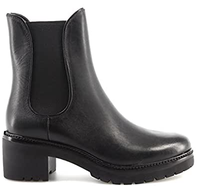 Michael Kors Women's Shoe Heel Boots Noah Bootie Leather 40F7NHME8L Black New