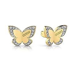 Idea Regalo - Indovinare orecchini farfalla amore placcato oro chirurgica in acciaio inox logo UBE78011 [AC1127]