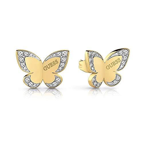 Ratet mal, Liebes-Schmetterlings-Ohrringe chirurgischem Edelstahl vergoldet Logo UBE78011 [AC1127]