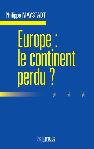 Livre Europe : le continent perdu pdf ebook