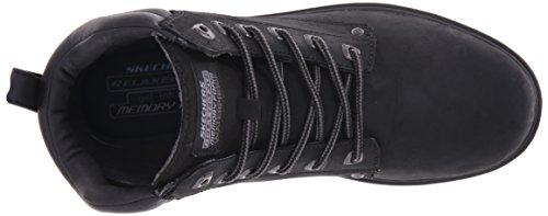 Skechers - Segment Amson, Scarpe stringate Uomo Nero (Noir (Blk Noir))