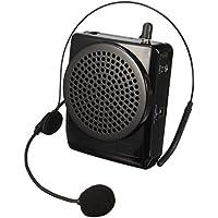 ELEGIANT Amplificador De Voz Portátil Con Micrófono Ultraligero Cintura Apoyo Formato MP3 Audio Para Profesores, Guías, Entrenadores, Trajes, Artistas, Presentaciones, Etc Negro