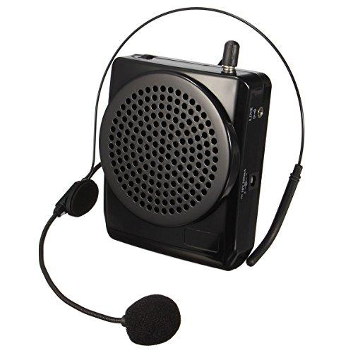 ELEGIANT Amplificador De Voz Portátil con Micrófono Ultraligero Cintura Apoyo Formato MP3...