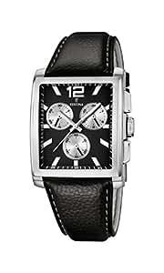 Festina - F16756/4 - Montre Homme - Quartz Analogique - Chronomètre - Bracelet Cuir Noir