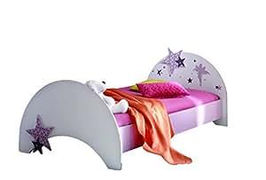 Demeyere 299409 Bett FEE 90 x 200 cm, 103,5 x 83 x 202,8 cm, rosa / weiß