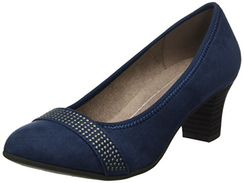 Softline Damen 22474 Pumps, Blau (Navy), 37 EU