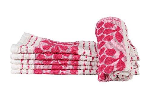 Casa Copenhagen Basics 350 GSM Set Of 6 Pcs Kitchen Hand Towels – Pink