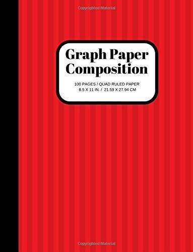 Graph Paper Composition: Grid Paper Notebook, Quad Ruled, 100 Sheets (Large, 8.5 x 11) por Joyful Joyful