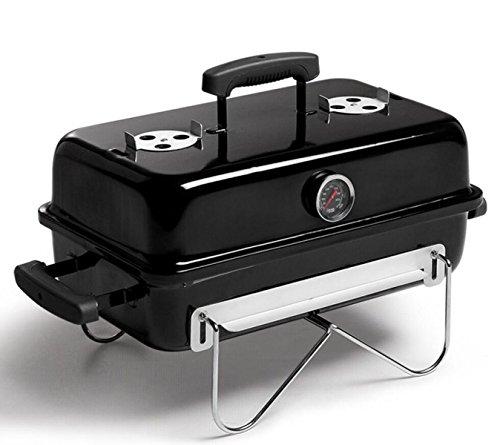 Kohlegrill Im Freien Grill-Box Zu Hause Klappbaren Tragbaren Ofen Schwarz Nr