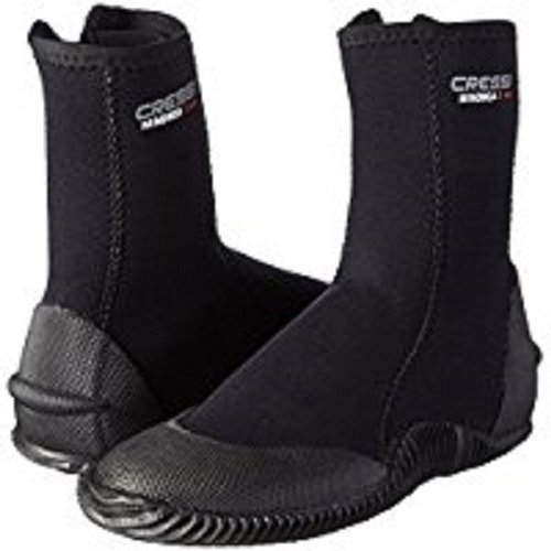 Cressi Boots With Soles Calzari in Neoprene con Suola, 5mm, Nero, XL