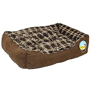 Me & My Brown Check Medium Super Soft Dog Bed