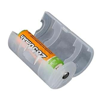 ADAPTATEURS DE PILES Batteries RECHARGEABLES ACCUS LR06 AA en D LR20