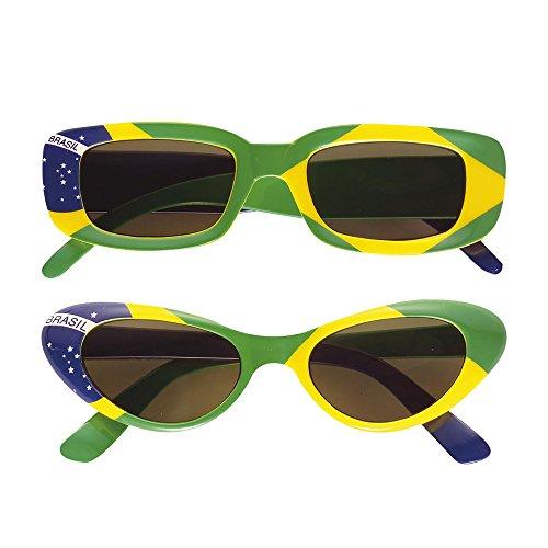 WIDMANN 6656B Brille, grün/gelb/blau, Brasilien