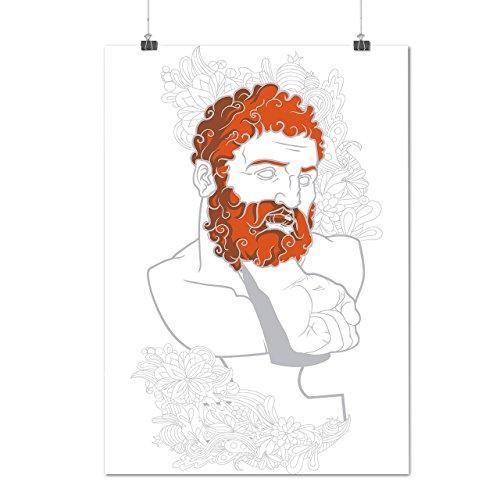 Bart griechisch Nerd Mode Faust Schmerz Mattes/Glänzende Plakat A3 (42cm x 30cm) | (Nerd Weiblich Kostüme)