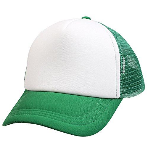 Unsex Baseball Cap Ronamick Männer Frauen Basecap Unisex Baseballmütze Jungen Mädchen Kappe Farbe Block Snapback Hip Hop Flachen Hut Mütze (Grün)