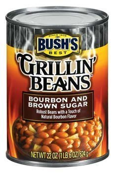 Bush\'s Best, Grillin\' Beans, Bourbon & Brown Sugar, 22oz Can (Pack of 6) by Bush\'s