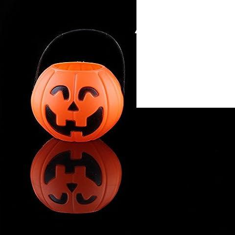 Halloween calabaza de Halloween/Bar campo Vestido de lámpara/Tarro del caramelo de los niños/ portable calabaza cubo-C