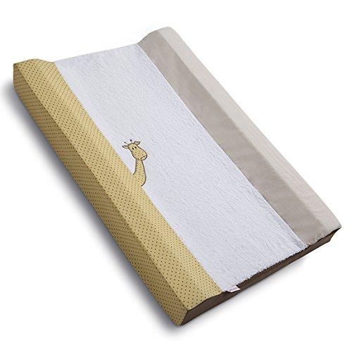 Belino 9766 - Cambiador para cómoda y bañera, diseño bonny chocolate, 50 x 80 cm, color mostaza y blanco