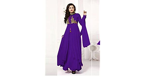 4787fe6f92f6 Buy Gopinath Retailers Drashti Dhami Designer New blue Salwar Suit online   Amazon.in  Clothing   Accessories