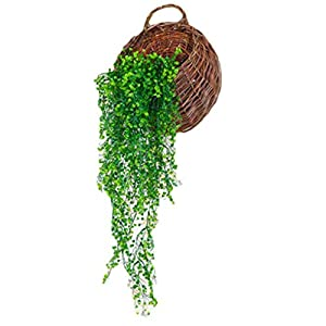 Kineca Artificial Golden Bell Willow Colgar de la Pared Decoración Planta de la Flor de la Vid DIY Hecho a Mano Falso…