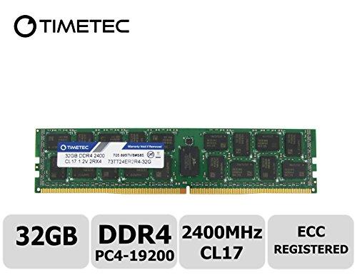 Timetec 32 GB DDR4 2400 MHz PC4-19200 Registered ECC 1,2 V/Tablettenspeicher 2RX4 Dual Rank 288 Pin RDIMM Server Memory RAM Arbeitsspeicher Upgrade (32GB) - Poweredge 2400 Server