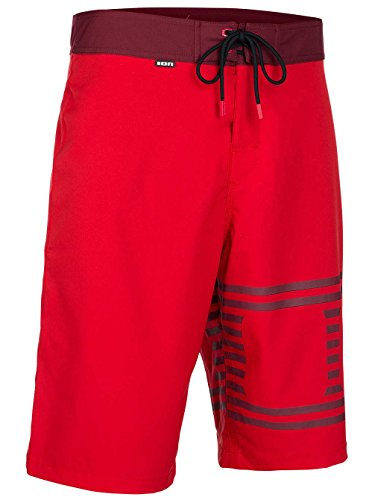ION Boardshort Logo Schwarz Rot