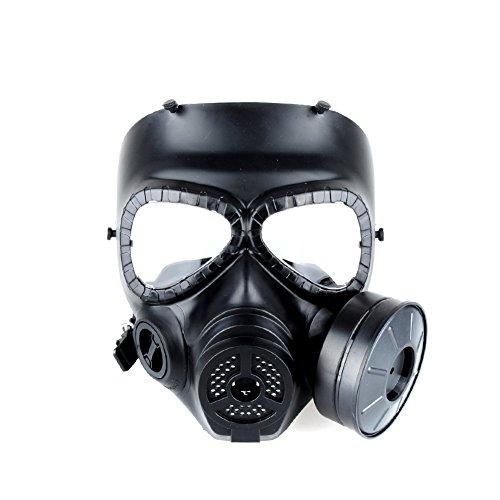 Halloween Kostüm Dummy Für (OFTEN® M04 Airsoft Paintball Dummy Gasmaske Lüfter für Cosplay Schutz Zombie Soldaten Halloween Masqürade Resident Evil Antivirus Schädel CS Mask)